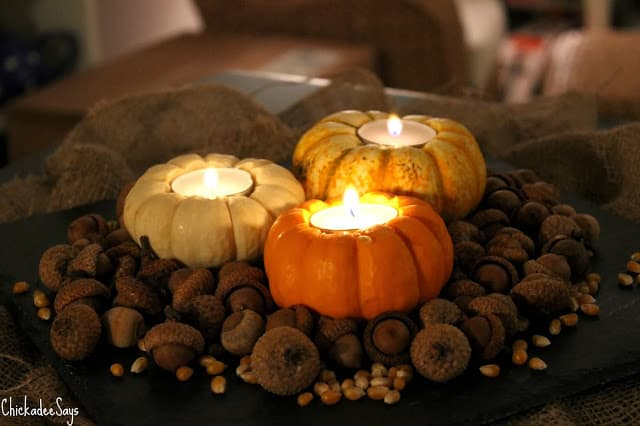 Do it yourself rustic autumn centerpiece habits of a