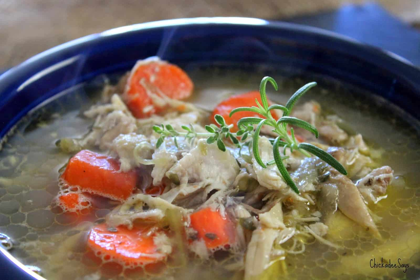 Simple Chicken Soup From Scratch Habits Of A Modern Hippie